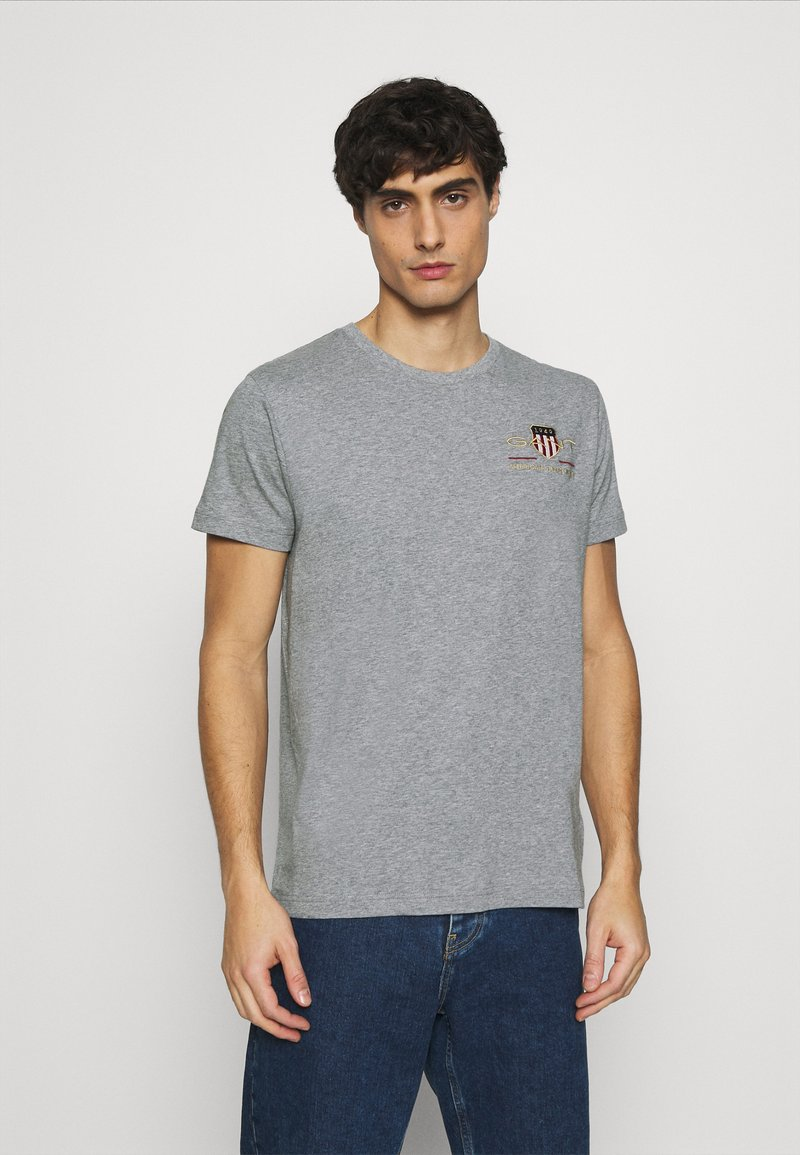 GANT - ARCHIVE SHIELD - T-shirt med print - grey melange