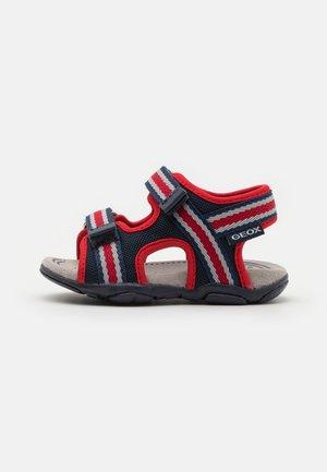 AGASIM BOY - Walking sandals - navy/red