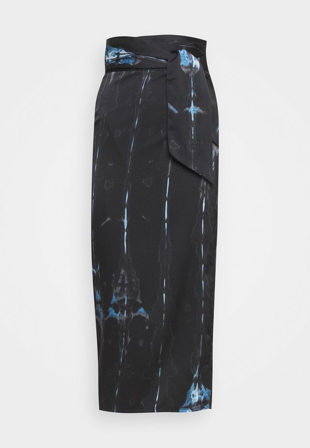 TIE DYE JASPRE SKIRT - Gonna a campana - navy multi