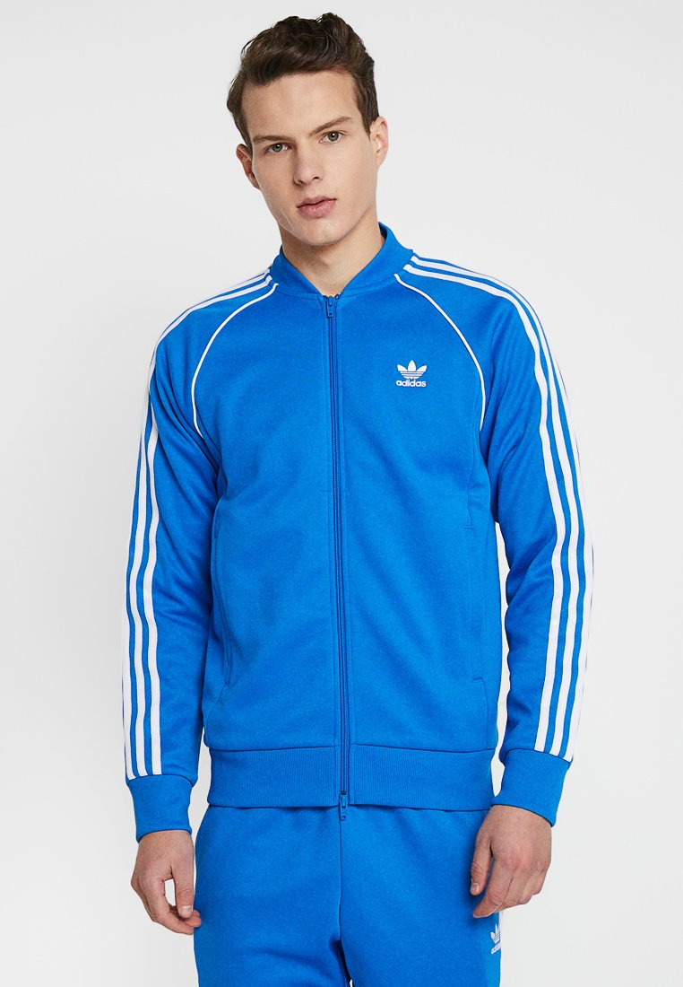 adidas Originals - SUPERSTAR ADICOLOR SPORT INSPIRED TRACK TOP - Träningsjacka - blue bird