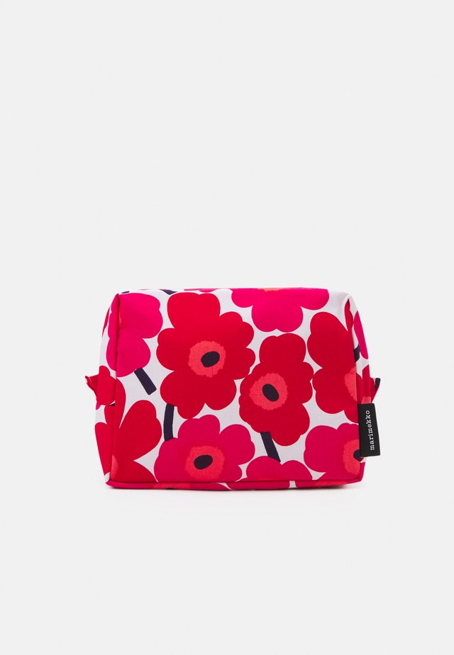 VILJA MINI UNIKKO COSMETIC BAG - Wash bag - white/red