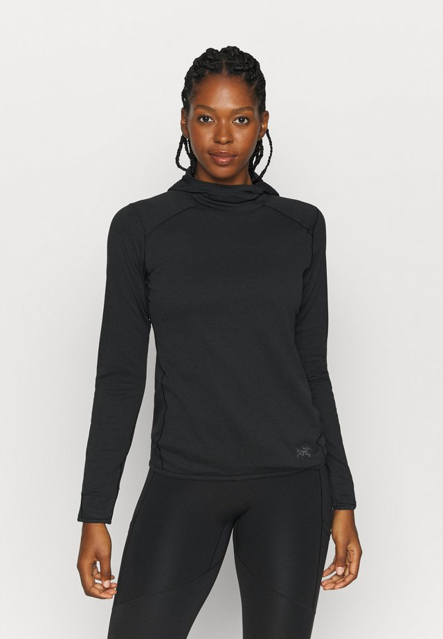 MOTUS AR HOODY WOMEN'S - Felpa in pile - black heather