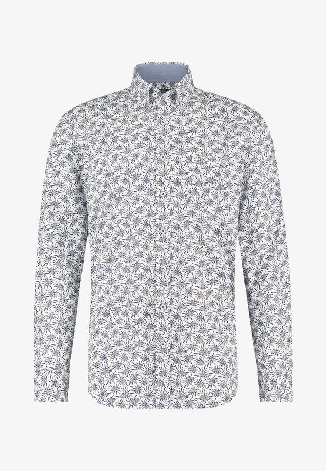 Shirt - cobalt/white grey