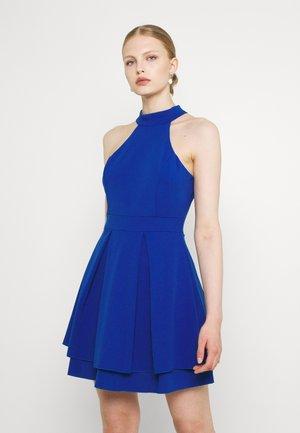 CHERYL HALTER NECK SKATER DRESS - Jerseykjole - cobalt blue