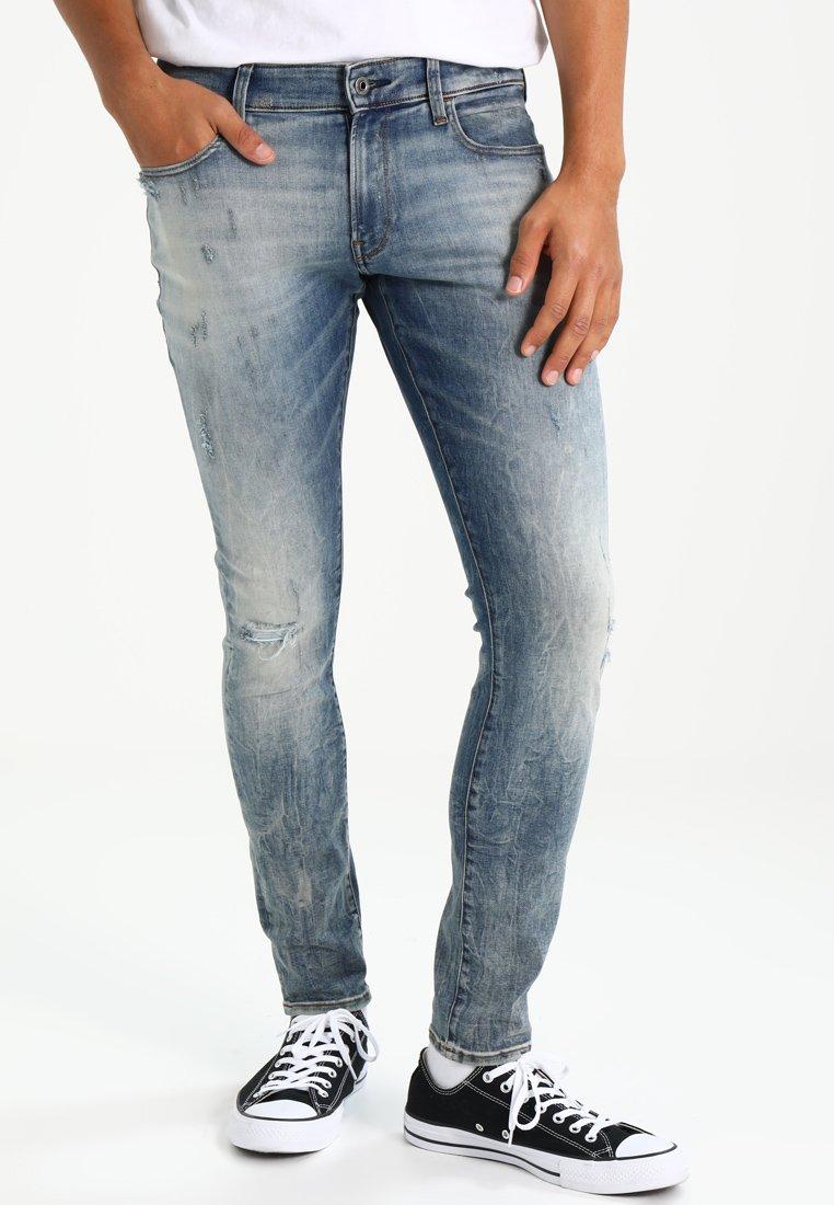 G-Star - 3301 DECONSTRUCTED SUPER SLIM - Slim fit jeans - blue denim