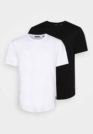 ONSMATT LONGY TEE 2 PACK  - T-shirt basic - black/white