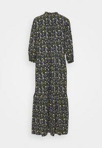 Marc O'Polo DENIM - RUFFLE AT WAIST 3/4 SLEEVE - Maxi dress - multi/burnished logs - 1