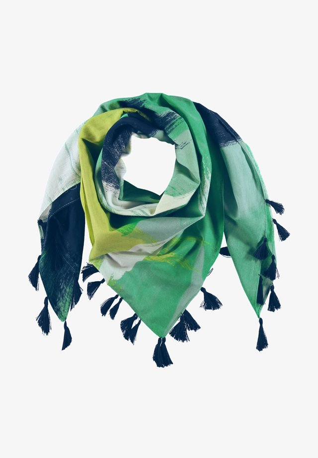 Sjaal - blau/grün druck