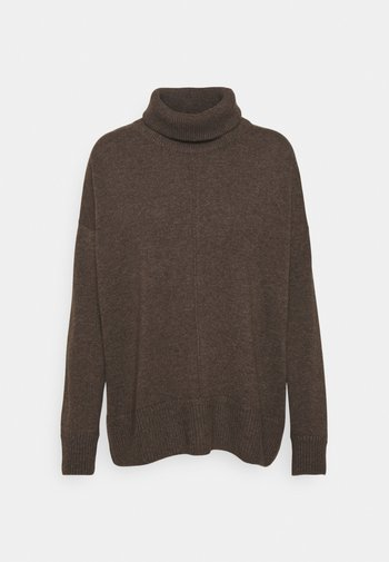 DOUBLE COLLAR - Jumper - cacao
