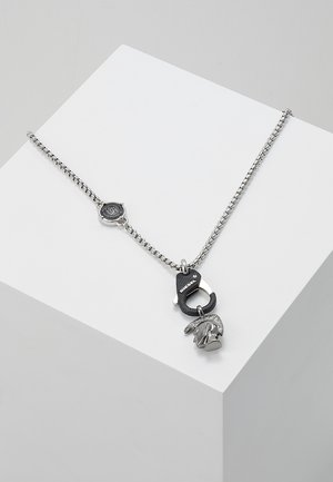 SINGLE PENDANT - Collier - black/silver-coloured