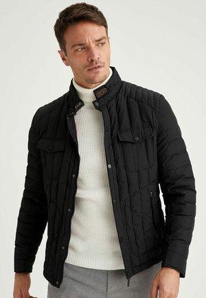 SLIM FIT  - Light jacket - black