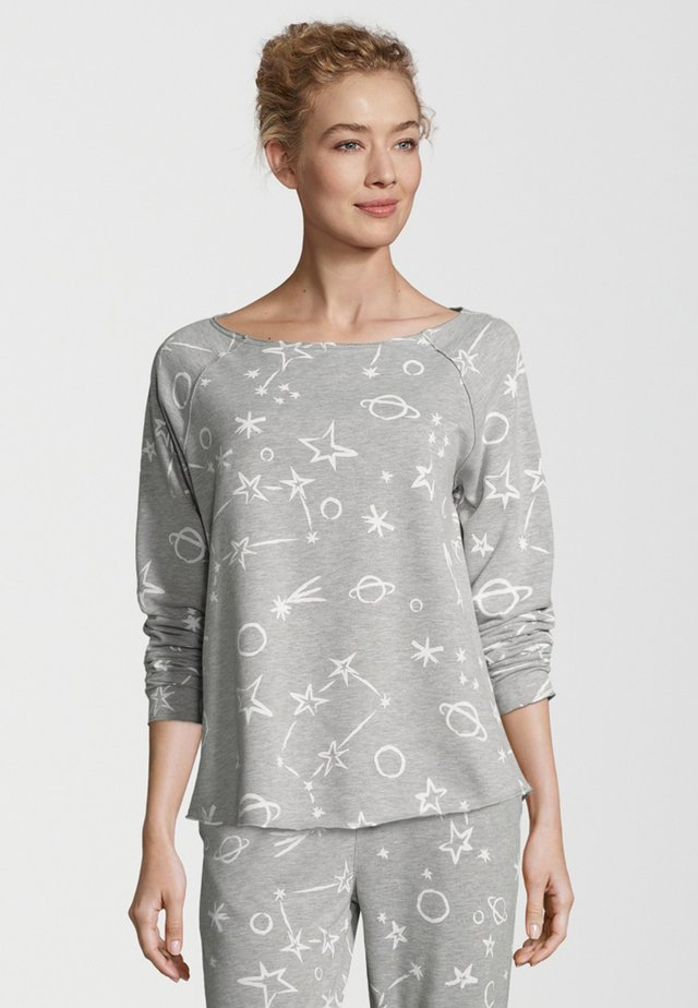 FLEECE COSMOS PRINT - Sweater - light grey/white
