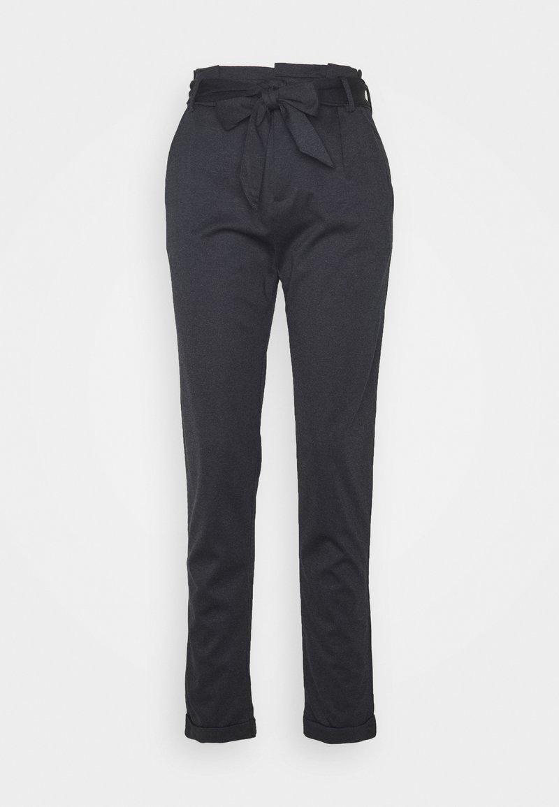 Esprit - PAPERBAG PANTS - Trousers - navy
