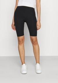 Monki - EDDA 2 PACK - Shorts - black dark/beige - 1