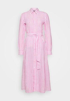 LONG SLEEVE CASUAL DRESS - Maxi dress - pink/white
