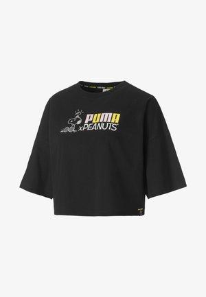 PEANUTS  - Print T-shirt - black