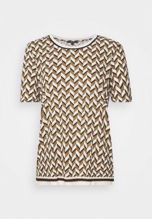 GRAPHIC PRINT CONTRAST STRIPE - T-shirt print - black