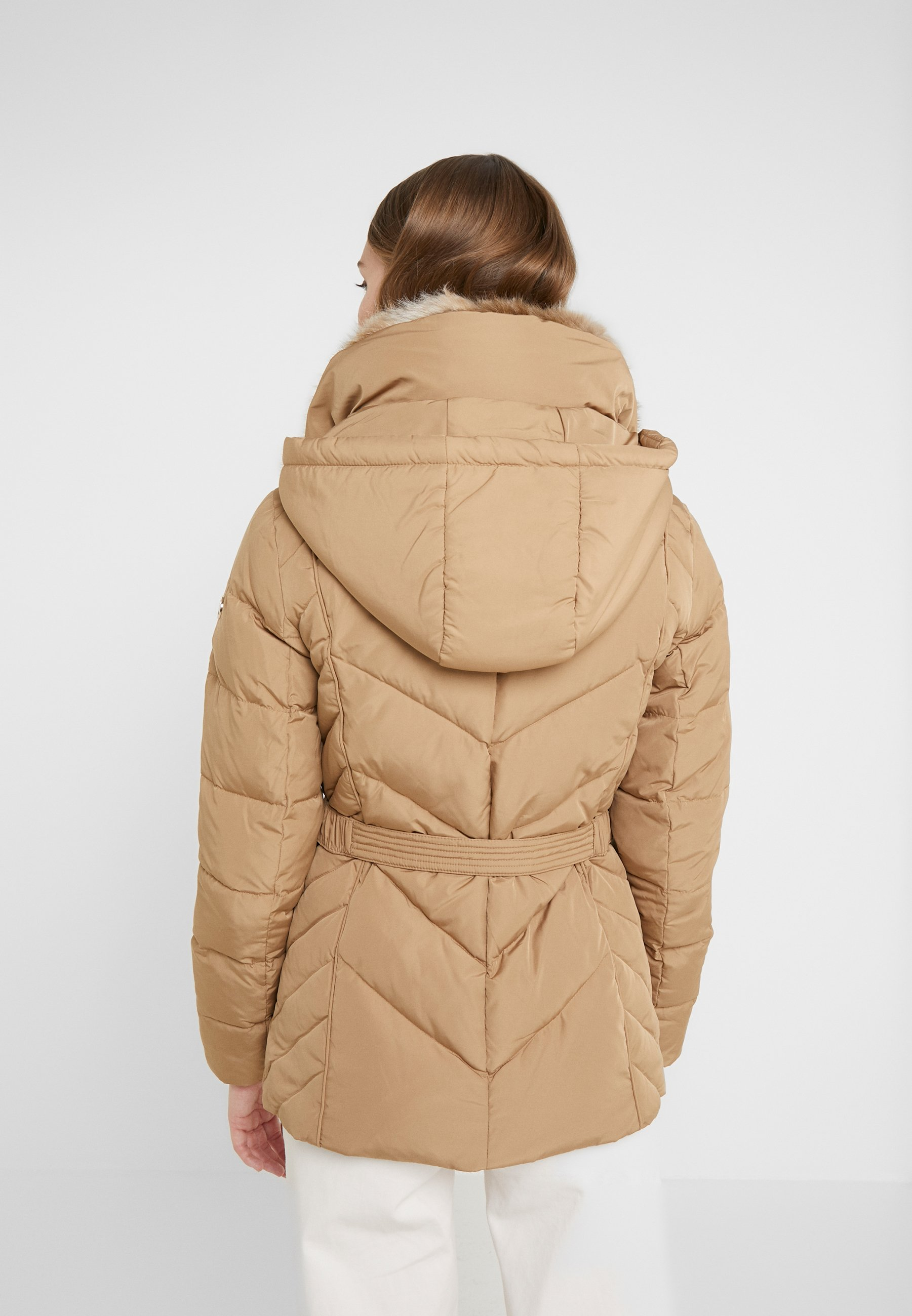 High Quality Women's Clothing MICHAEL Michael Kors FITTED PUFFER Down jacket dark camel h69715Ers