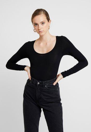 ANNA - Topper langermet - black