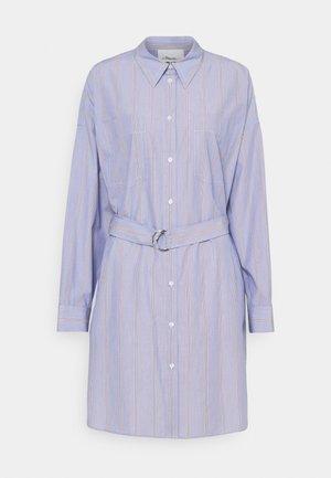 STRIPED BUTTON UP SHIRT DRESS - Košilové šaty - blue/multi
