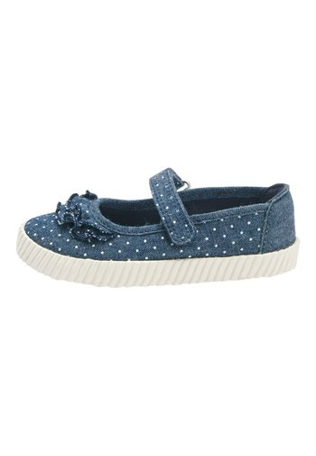 DENIM SPOT RUFFLE MARY JANE PUMPS (YOUNGER) - Baby shoes - blue