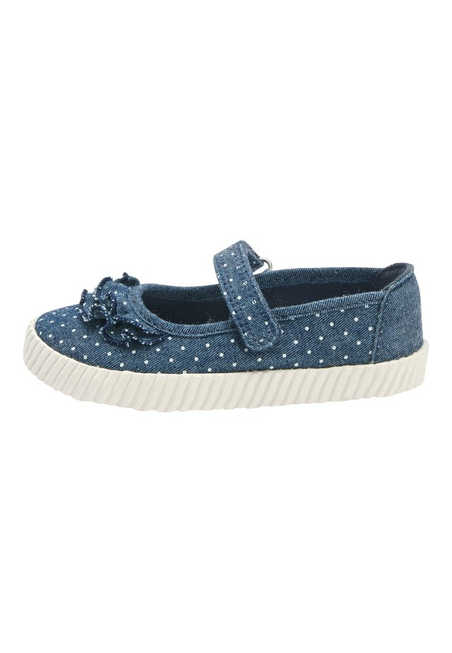 DENIM SPOT RUFFLE MARY JANE PUMPS (YOUNGER) - Lära-gå-skor - blue
