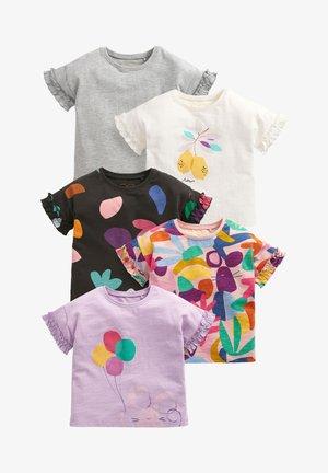 5 PACK - Print T-shirt - white