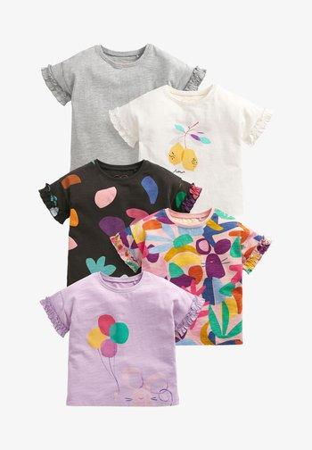 5 PACK - T-shirt print - white