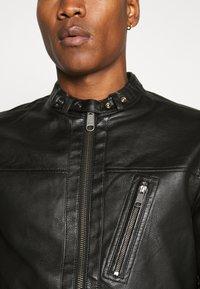Jack & Jones PREMIUM - JPRBLUMAX JACKET - Faux leather jacket - black - 5