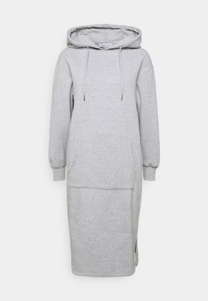 HOODIE MIDI DRESS - Sukienka letnia - grey marl