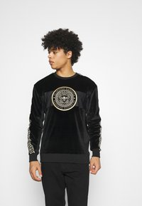 Glorious Gangsta - HERVAS CREW - Sweatshirt - black /gold - 0