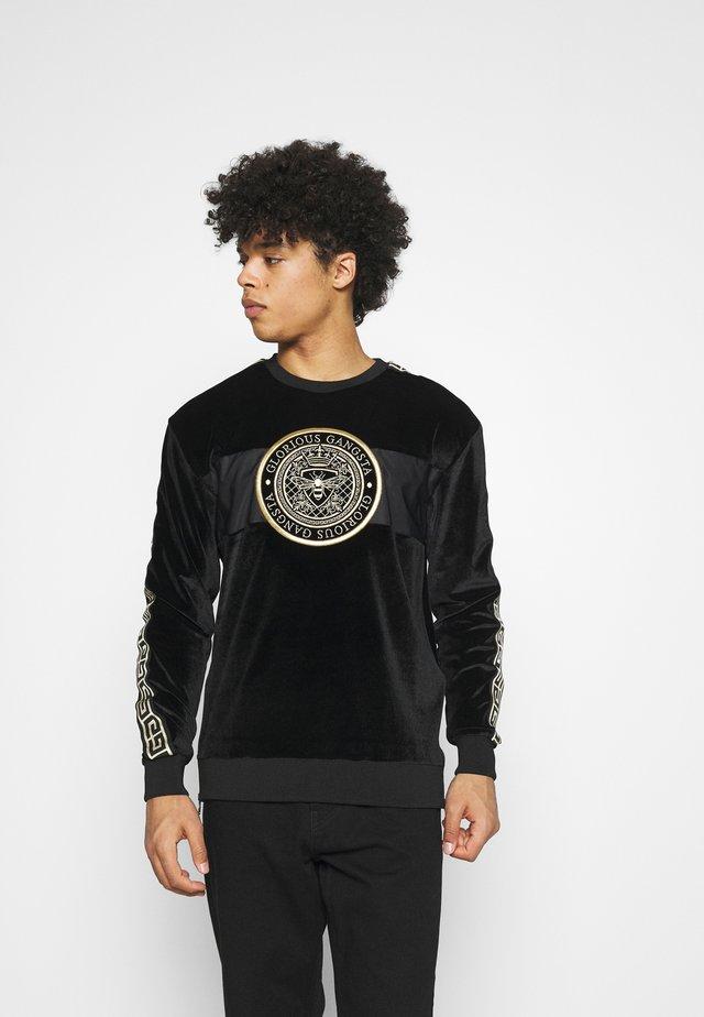 HERVAS CREW - Sweatshirt - black /gold