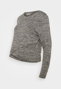 Cotton On - CROSS OVER FRONT LONG SLEEVE 2 PACK - Strikkegenser - black/greys twist - 1