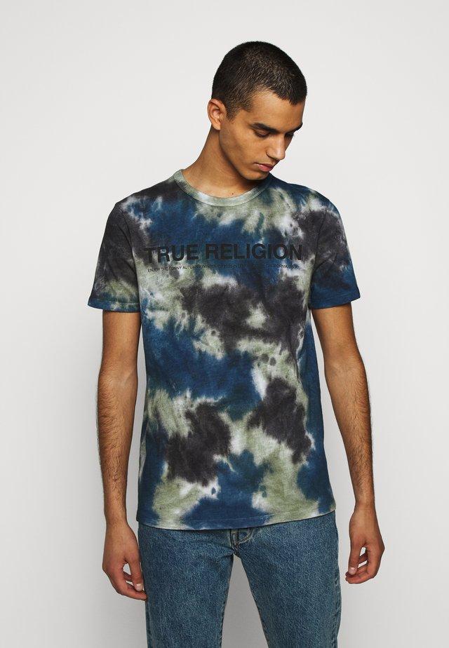 CREW BATIK - T-shirt imprimé - black