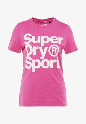 HAZARD SPORT TEE - T-shirt print - fluro pink