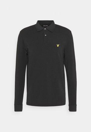 WOVEN COLLAR  - Polo shirt - jet black