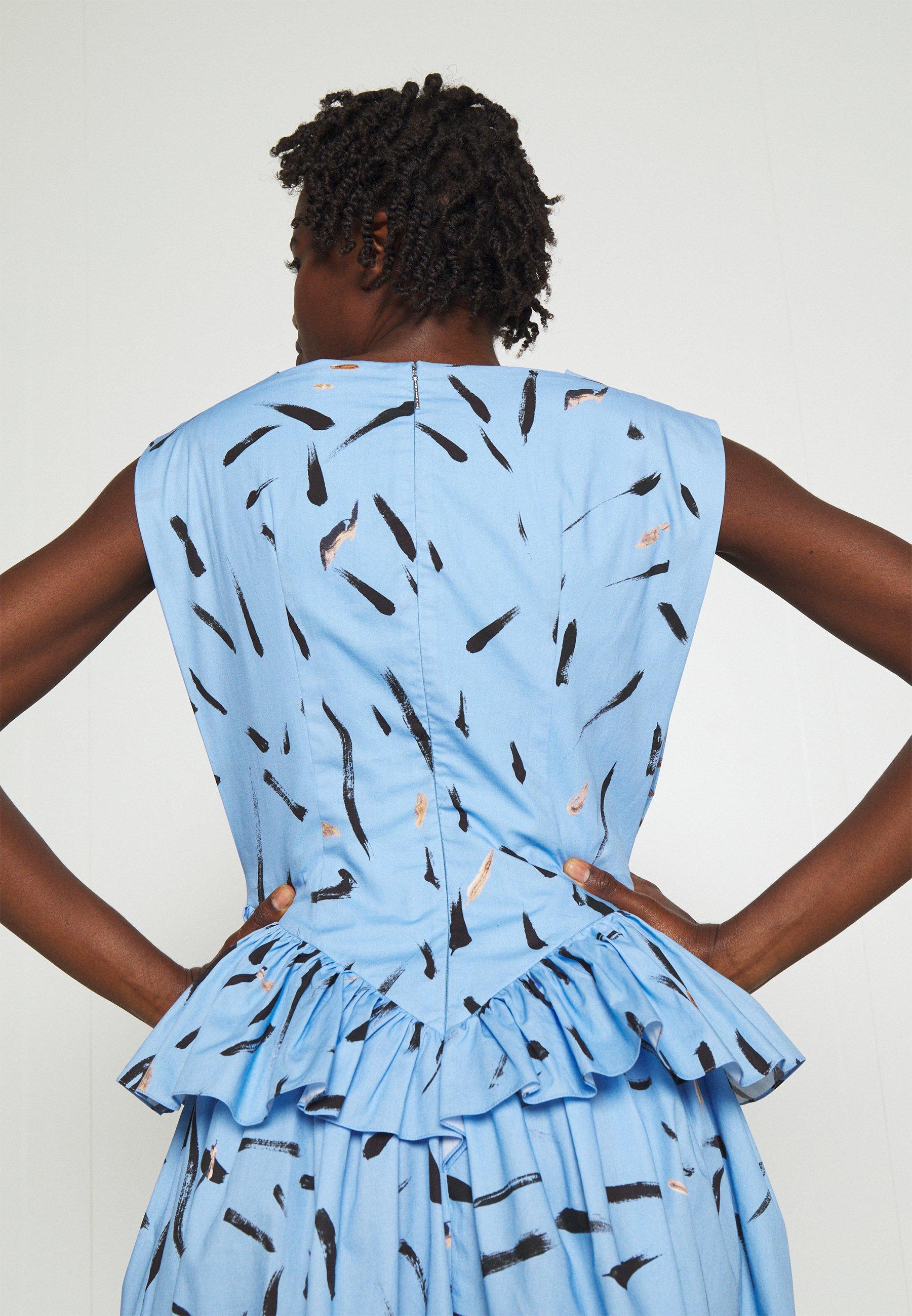 Damen FLORAL CUPCAKE MINI DRESS - Cocktailkleid/festliches Kleid - blue