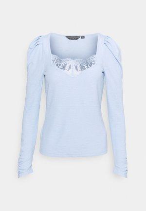 TRIM RUCHED SLEEVE - Top sdlouhým rukávem - cornflower blue