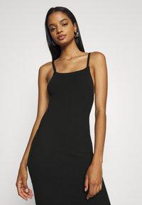 Missguided - SQUARE NECK MIDI DRESS - Day dress - black - 3