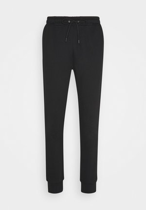 TYRELL - Tracksuit bottoms - jet black/ charcoal marl