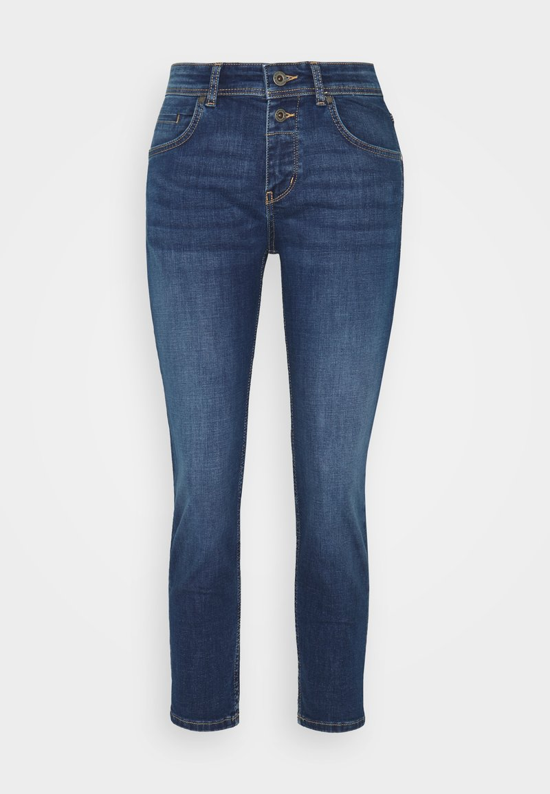 Marc O'Polo - DENIM TROUSER MID WAIST BOYFRIEND FIT CROPPED LENGTH - Slim fit jeans - vintage dark wash