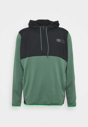 STORM 1/2 ZIP HOODIE - Sweatshirts - black