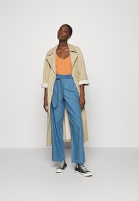 Denham - PALAZZO PANT  - Relaxed fit jeans - blue - 1