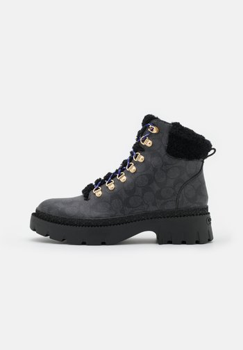 JANEL BOOT - Platform ankle boots - charcoal
