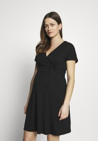 Balloon - NURSING WRAP DRESS - Vestito di maglina - black - 3