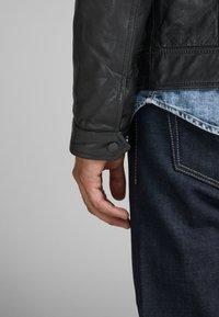 Jack & Jones PREMIUM - Leather jacket - black - 5