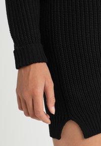 Noisy May - NMSIESTA O NECK DRESS - Strikket kjole - black - 4