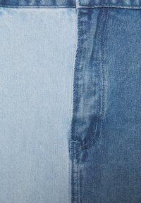 Missguided Plus - SPLICED SKIRT - Minirok - blue - 2