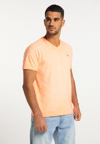 T-shirt basic - fiery coral