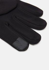Pier One - RUNNING TRAINING TOUCH GLOVES - Gloves - black - 2